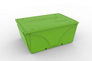 Image of Banderbox, a LEGO® sorting box. This version is medium-sized and in the color Limelite.