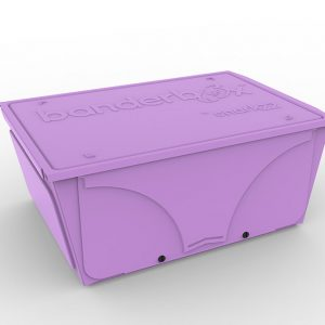 Image of Banderbox, the LEGO® sorting box from Snark22. This version is available in the color Lilac in a Medium size.